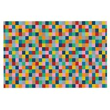 "Kess InHouse Project M ""Colour Blocks"" Geometric Rainbow Decorative Doormat, 24"