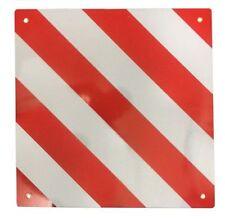 Motorhome Aluminium Hazard Rear Warning Sign Safety Reflector Plate 50 x 50