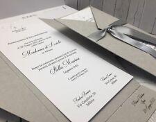 PARTECIPAZIONI NOZZE inviti matrimonio BUONANNO carta riciclata sposi E008