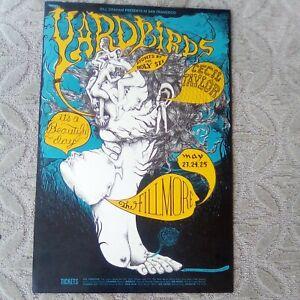 Bill Graham BG #121 Poster 1st Print Fillmore Yardbirds