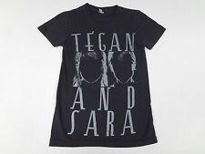 TEGAN & SARA INDIE POP BAND SILHOUETTES - SMALL BLACK WOMEN'S T-SHIRT F960