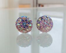 Dianty Sparkly Ab Crystal Diamante Diamond Stud Rhinestone Earrings