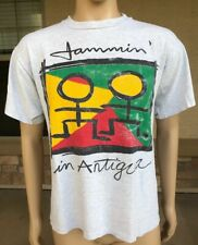 Vintage 90s Jammin' In Antigua T Shirt Gravity Graphics USA Large Single Stitch