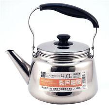 Japanese Stainless Steel Tea Pot Teapot Kettle w/ Chakoshi Strainer Ocha 4 Liter