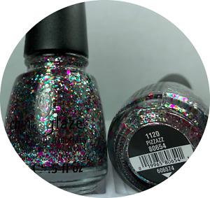 China Glaze Nail Polish * PIZZAZZ * 1120 #80654 * Multi Colored Glitter Lacquer
