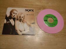 "NOFX 1992  7"" 45 RPM PINK Vinyl FAT505 Liza And Louise Fastest Longest Line VG+"