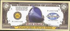 Million Note - Fantasy Money - Beautiful -Endangered Species Series - BLUE WHALE