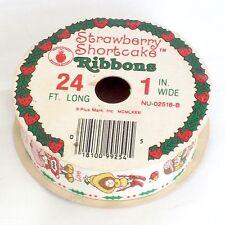 Vintage Strawberry Shortcake Christmas ribbon gift wrap present