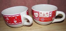 Just for you Oversized Soup coffee tea hot chocolate hearts Love lot of 2 used