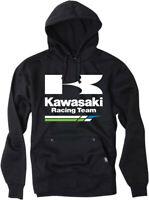 Factory Effex Licensed Kawasaki Racing Pullover Hoodie Black Mens All Sizes