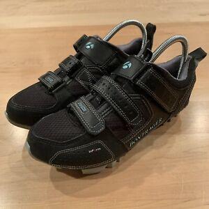 Bontrager Race Mountain Black Shoes Womens Size 7.5 Biking Cycling 428755