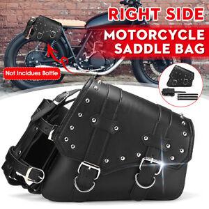 Right Motorcycle Saddlebag Storage Tool Bag & Bottle Holder PU Leather Universal