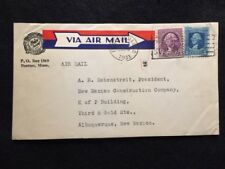 "1933 Boston, Massachusetts ""Air Mail"" Cover With Scotts# 710 & 720 Stamps!"