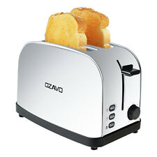 Edelstahl 2 Scheiben Toaster mit Krümelschublade Sandwich Langschlitz