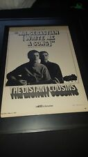 Distant Cousins Mr. Sebastian Write Me A Song  Rare Promo Poster Ad Framed!