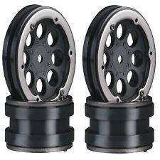 "Axial AX8087 8-Hole 1.9"" Beadlock Wheels Black (4) SCX10 Scorpion AX10 12mm Hex"