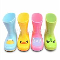 Girls Boys Kids Childrens Themed Animal Wellington Wellies Rain Boots