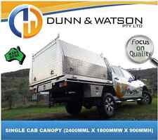 AUS MADE SINGLE CAB ALUMINIUM UTE CANOPY, HEAPS OF OPTIONAL EXTRAS, 2YR WARRANTY