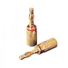 Dynavox Bananenstecker 4er-Set rot / schwarz - Für Kabel bis 6 mm (205094) NEU!
