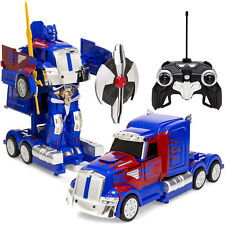 27MHz Transforming RC Semi-Truck Robot Remote Control Toy w/ Dance Modes