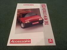 1987 1988 Citroen AX accessoirie/Accesorios del Reino Unido Folleto de carpetas de color-K2455
