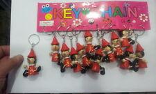 12 portachiavi  pinocchio legno  portafortuna amuleto  1 horn charms