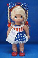"Minnie Born in USA 12"" Vinyl Doll Blonde Disney Precious Moments 5238 Signed"