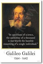 Galileo Galilei - In questions of science... - NEW Classroom Motivational POSTER