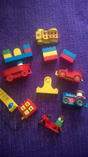 LEGO DUPLO VINTAGE MISTO Fascio di mattoni Auto Nave Trattore Telefono & Figure