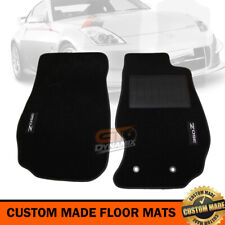Nissan 350Z CUSTOM MADE FLOOR MATS SET of 2 FRONT BLACK 350Z Logo 1/2003-5/2007