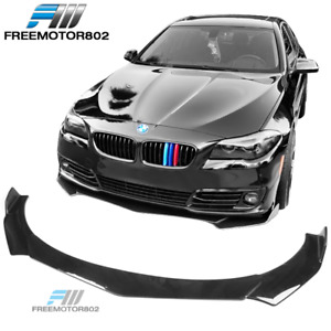 """71"""" Universal 3PCS Front Bumper Lip Spoiler Protector ABS B Style-Gloss Black"""