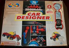ZoobMobile Car Designer Kit Zoob Guide Book A B C 73 pcs Lot Toy Building