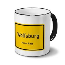Besondere Wolfsburger Geschenkideen: Städtetasse Wolfsburg Design Ortsschild