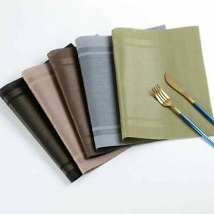 6 PCS Anti-skid And Heat-insulation PVC Placemat Dining Table Non-slip Table Mat