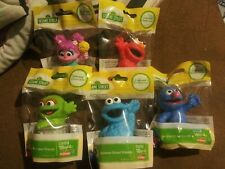 5x Sesame Street Friends Elmo Oscar Cookie Monster Cake Topper Figures Hasbro