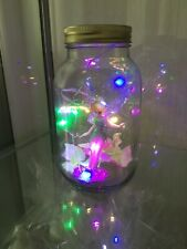Battery LED Fairy Lights in Glass Jar Tinker Bell Magical Gift