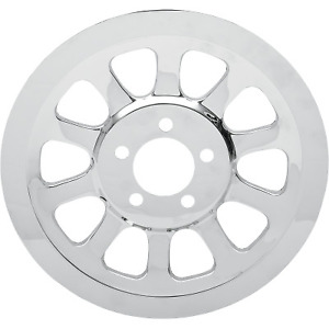 Drag Specialties - D26-0151 - Chrome Outer Rear Pulley Insert Harley-Davidson Fa