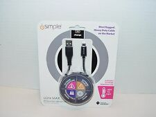 New iSimple uLinx MAX Android Micro USB Heavy Duty Charger Cable IS9612 3 AMP