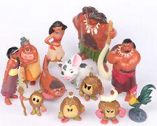 12pcs Children Toys Disney Movie Moana PVC Dolls 4-10cm