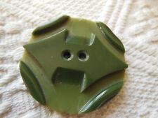COLLECTIONénorme bouton ancien Art deco vert bel etat 4,4 cm ref 2601