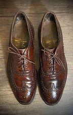 New listing Vintage Johnston Murphy Crown Aristocraft Shell Cordovan Wingtip Men's 10.5 D/B