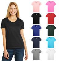 Hanes Ladies Tagless 100% Cotton V-Neck Smooth Comfort Feel T-Shirt 5780