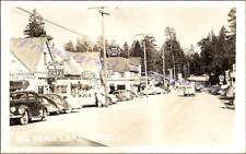 1938 Big Bear Lake California Main Street Hotel Cabaret Cafe Real Photo Postcard