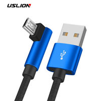 90 Degree Angle Micro USB Cable Fast Charging Data Sync Phone Cable For Android