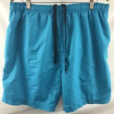 Laguna Originals Mens Size XL Aqua Blue Draw String Waist Swim Trunks