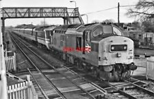 PHOTO  CLASS 37 LOCO NO 37219 AND HST  COLTHROP  1994 FROM SIGNAL BOOX