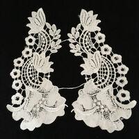 Black Eiffel Tower Collar Applique Lace Trim Embroiderey Lace Collars Vintage