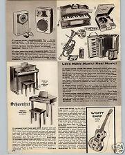 1961 PAPER AD Toy Play Wyatt Earp Guitar Cowboy Schoenhut Piano