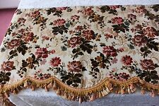"Stunning Old French Floral Antique c1870 Silk Cut Velvet Valance~L-21""X W-84"""