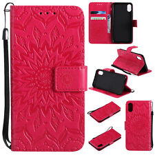Embossed Magnetic Flip Stand Strap Case Cover For iPhone 11 X Moto E6 Play E7 G8